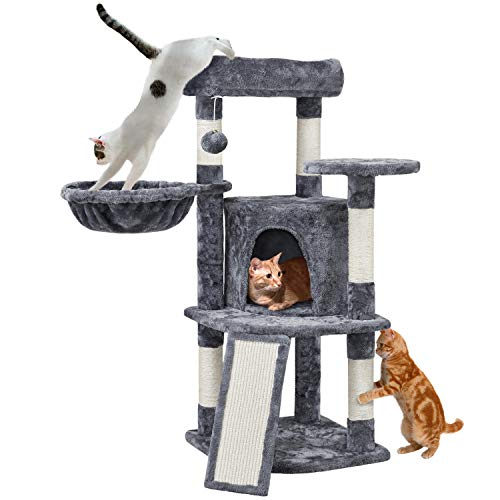 Yaheetech 42in Cat Tree, Cat Tower w/Sisal Posts and Scratching Post, Cat Condo w/Soft Plush Perch...