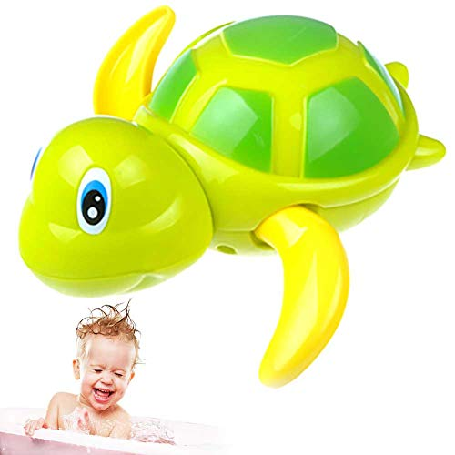 Romote 1 Pc Badespielzeug Schwimmende Schildkröten Schwimmendes Aufziehbaby Badespielzeug Entzückende Schildkröte Badewannenspielzeug Schwimmende Spielzeuge Badewannenspielzeug(Grün)
