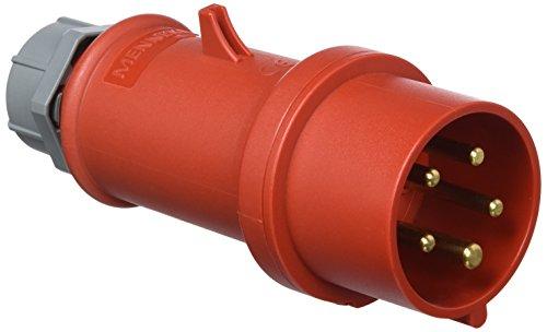 Mennekes 101200151 Stecker, CEE, 400 V, 50-60 Hz, 16 A, 5polig, IP44, Rot