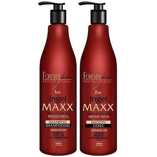 Forever Liss Maxx brasilianisches Keratin Behandlung Kit 2x 1000ml
