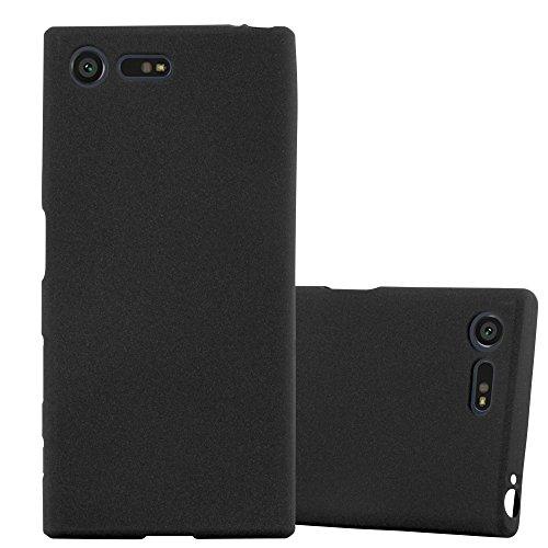 Cadorabo Funda para Sony Xperia X Compact en Frost Negro - Cubierta Proteccíon de Silicona TPU Delgada e Flexible con Antichoque - Gel Case Cover Carcasa Ligera