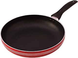 Klassic Frying Pan 26 cm | 3 mm FryPan Red Skillet | Non Stick Fry Pan with Toxin Free Teflon Coating | Heavy-Duty Aluminu...