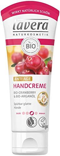 Lavera Handcreme ANTI AGE Bio-Cranberry & Bio-Arganöl 3er Vorteilspack (3 x 75ml)