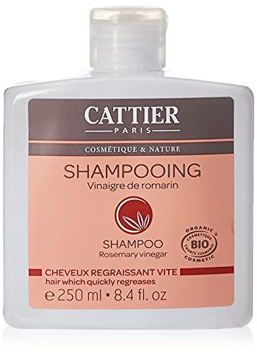 Cattier Shampoo für schnell fettendes Haar, Rosmarin-Essig, 250 ml