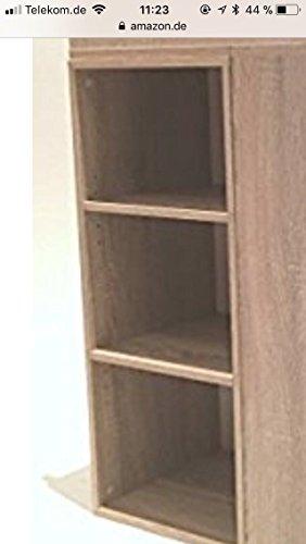 moebel-dich-auf Babyzimmer Komplettset/Kinderzimmer komplett Set Elisa Verschiedene Varianten in Eiche Sonoma/Weiß (Unterbauregal)