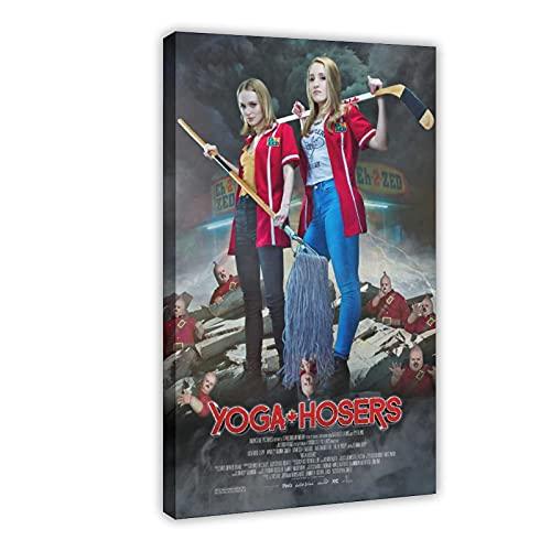 Famosa actriz francesa y modelo Lily-Rose Melody Depp Yoga Hosers cubierta de película1 póster de lona para decoración de la pared de la sala de estar, dormitorio decoración de 50 x 75 cm, marco1