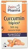 ZeinPharma Curcumin 500 mg 40 Kapseln (2 Wochen Vorrat) Glutenfrei, vegan, koscher & halal Hergestellt in Deutschland, 26 g