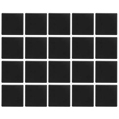 20st Zwarte Kunststof Extrusie Eindkap Voor Aluminium Profiel 6060, Eindkap 4-gaats, ABS Kunststof, CNC 3D-printeronderdelen Euro Standaard
