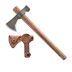 Forged Tough: 1055 Carbon steel provides durability and edge retention Durable: Tennessee hickory is a dense material that withstands hard use Multi-Purpose Utility: Easily split wood or hammer tent stakes High Quality: Durable, full grained leather ...