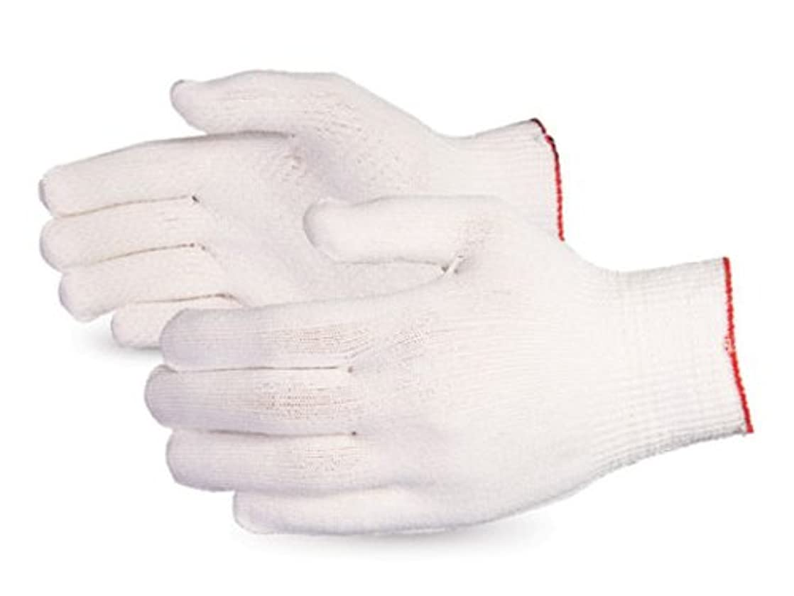 Superior SSL/C13D Dyneema Lightweight Knit Glove with PVC Dots Palm, Work, Cut Resistant, 13 Gauge Thickness, X-Small, White (Pack of 1 Pair) yavsdckb35810