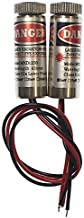 farhop Focusable 650nm 5mW 3-5V Red Laser Dot Module Diode w/Driver Plastic Lens (2 Pack) with Clamshell Packaging