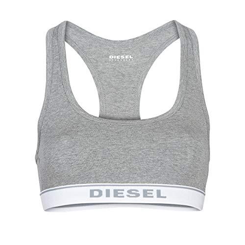 Diesel Damen Sport-BH UFSB-MILEY, Grau (Dark Grey Melange 96X-0Eauf), S