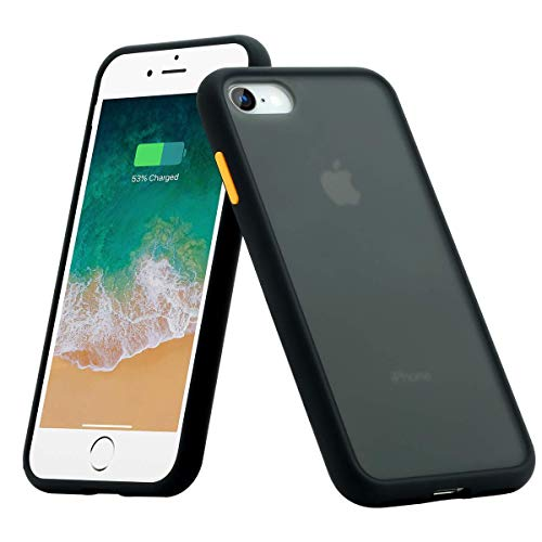 BENKS Cover iPhone 7 Cover iPhone 8, Custodia iPhone 8 7 Antiurto Antiscivolo Protezione in Silicone TPU + PC Case per iPhone 7/8 4.7 Pollici - Nero