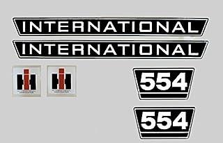 Mc Cormick Aufkleber international 434 gold  2 x Logo Emblem Sticker Label IHC
