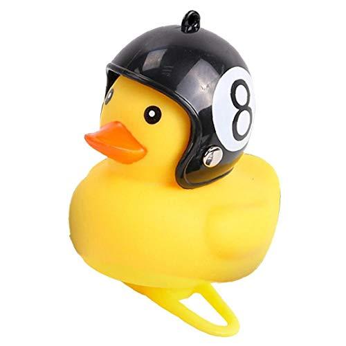 PiniceCore 1pc Karikatur-gelb-Silica-kleine Ente Helm Licht Glänzender Mountainbike Lenker Ente Fahrrad-Bell-zubehör