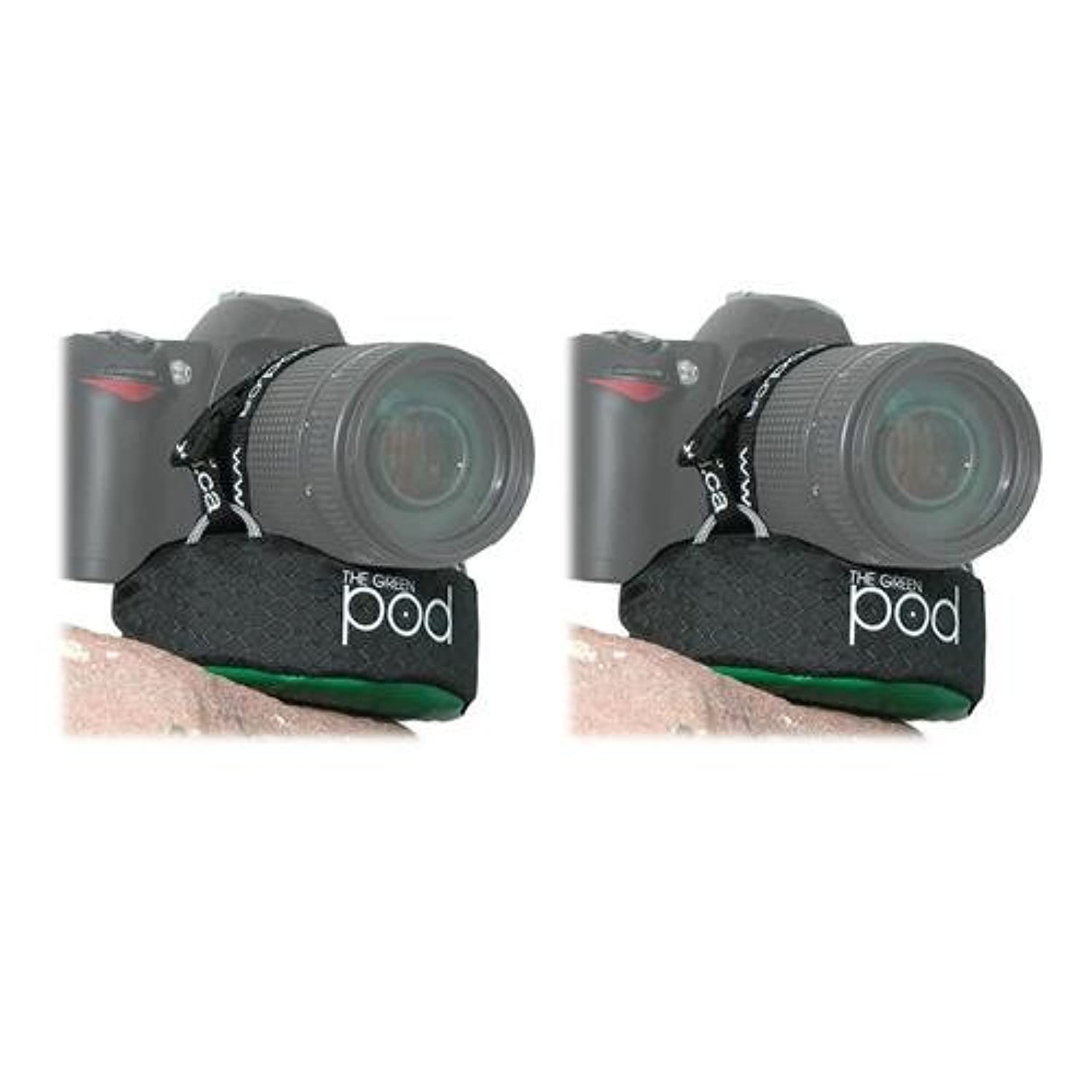The POD 2 Pack Green Camera Platform for DSLRs with Zoom Lenses