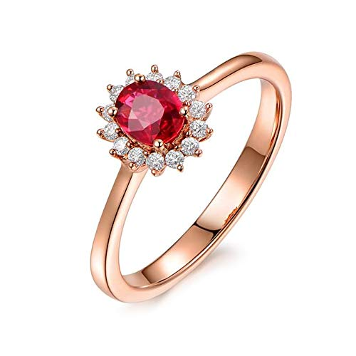 Cenliva 18ct Yellow Gold Ring, 18K Gold 1.12ct Diamond Accented Tourmaline with Diamond VVS1-VVS2 Ring Size P 1/2