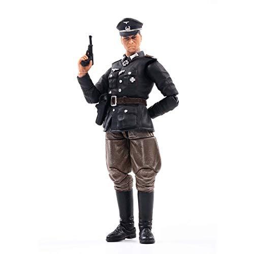 HYZM 1/18 Soldat Actionfigur, Action Figuren Modell Beweglich Figuren von World War II Deutscher Offizier Soldat Modell Spielzeug