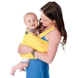 CuddleBug Fular Portabebés – Canguro para Bebés Recién Nacidos y Niños hasta 16 Kg – Manos libres – Porta Bebés de Tela…