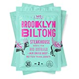 Brooklyn Biltong - Air Dried Grass Fed Beef Snack, South African Beef Jerky - Whole30 Approved, Paleo, Keto, Gluten Free, Sugar Free, Made in USA - 2 oz. Bags, 3 Count (Steakhouse)