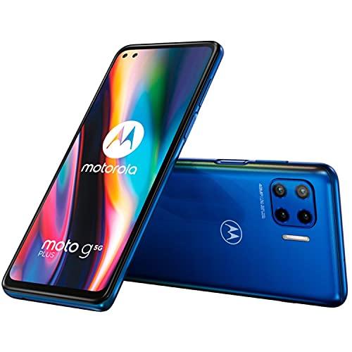 Motorola Moto G 5G Plus - Smartphone 64GB, 4GB RAM, Dual Sim, Surfing Blu