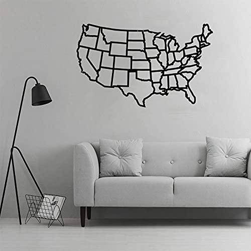 Ylight Decoración De Pared De Mapa Americano De Metal Arte Decoración del Hogar Decoración De Pared De Metal Colgadores De Pared Decoración De Interiores 7 Tamaños