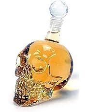 House of Quirk 550Ml Crystal Head Skull Vodka Skull Wine Bottle Decanter