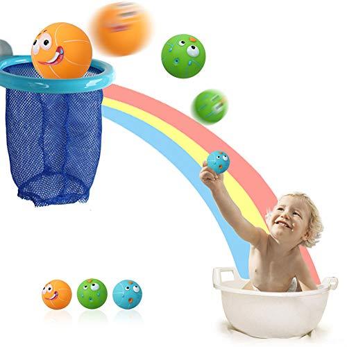 strimusimak Basket-Ball Hoop Shooting Balls Bath Toys for Kids Play Water Playset Shower Toy Supplies