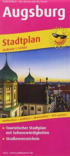 Augsburg: Touristischer Stadtplan mit Sehenswürdigkeiten und Straßenverzeichnis. 1:14000 (Stadtplan: SP)