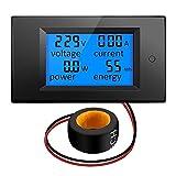 Yongenee 100A AC 80V-260V 20A / 100A 4 en 1 pantalla LCD digital Digital Power Watt Monitor de corriente del amperímetro del voltímetro del multímetro de tensión KWh metro del probador con el transfor