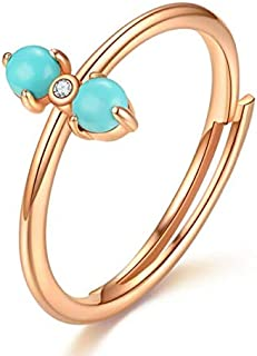 NRJZSS 925 Sterling Silver Rings For Women 100% Natural Turquoise Pink Rose Quartz Gemstone Tanzanite Wedding Jewelry Gold