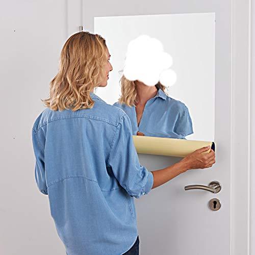 HAC24 Spiegelfolie Selbstklebend Wand Möbel 150 x 58 cm Wandspiegel Folie Spiegel