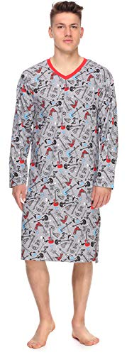 Timone Herren Nachthemd TI30-118 (Rockstar, XL)