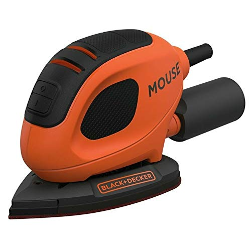 BLACK+DECKER 55 W Mouse Detail Sander with 10 Accessories in Softbag, BEW230BCA-GB