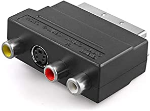 RGB to Composite RCA SVHS S-Video AV TV Audio Cable Adapter Switch 3 x RCA/Phono Female + S-Video Female to Male