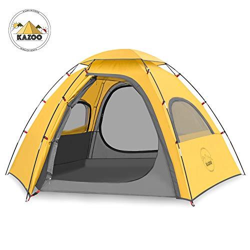 KAZOO Outdoor Camping Zelt für 2-3 Personen,mit vorzelt Zelte Wasserdicht 3000mm,Ultraleichte Kuppelzelt 3-4 Saison,Festival,Trekking und Outdoor
