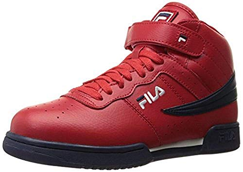 Fila Men's f-13v lea/syn Fashion Sneaker, Red Navy/White, 12 M US