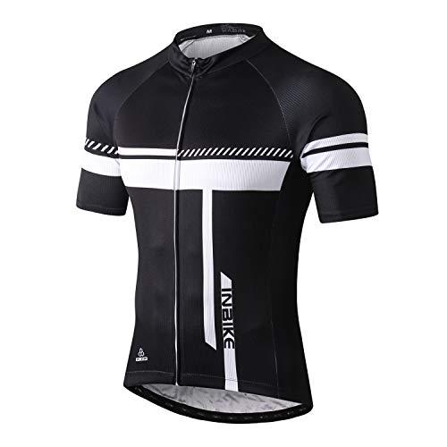 INBIKE Maillot Ciclismo MTB Bicicleta Montaña Camiseta Corto Transpirable Traje Bici Hombre...