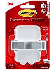 Command 17007 bezemhouder, tot 1,8 kg draagvermogen, 1 haak en 2 strips