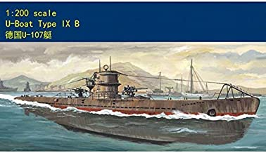 FidgetKute 80914 Hobby Boss 1/200 Model Kit German U-Boat Type IX B Submarine with Motor Show One Size
