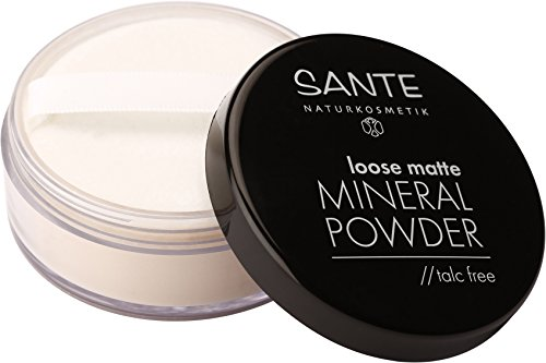 SANTE Naturkosmetik Loose matte Mineral Powder, 01 Light Beige, Mattiertes Finish, Vegan,...