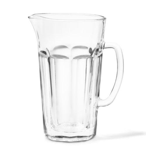 Leonardo Rock Krug, spülmaschinengeeignete Wasser-Karaffe mit Henkel, großer Glas-Krug im klassischen Design, 1500 ml, 012996