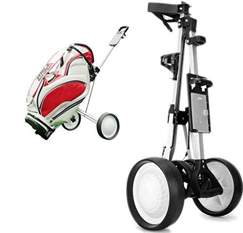 Cube Carrito de Golf de 3 Ruedas Carro Compacto para Bolsas de Golf Ligero y Plegable Fácil de Abrir y Cerrar Suministros de...