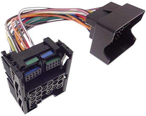 Umrüstadapter kompatibel mit BMW BM54 Radio auf BM24 Adapter runde Flache Pins E39 X5 E53 E38