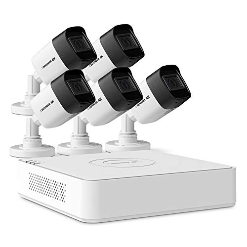 Defender 4k Ultra HD Wired Security Cameras- Night Vision, Mobile Viewing, Motion Detection Cameras for Surveillance Security Outdoor/Indoor for Home and Business ( 8 Channel 2TB 5 Cameras)