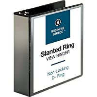 Business Source 3-Inch Slant Ring View Binder - Black (28449) [並行輸入品]