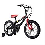 MYERZI Absorción de Impacto Bicicleta de montaña bicicleta de la velocidad de la bicicleta bicicleta del niño de la bicicleta 14 pulgadas bicicleta carro (Color: NEGRO, Tamaño: 14INCH (104 * 17.5 * 55