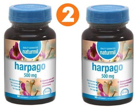 Naturmil Artiglio Del Diavolo 500 mg 180 compresse (90 + 90), integratore per articolazioni, cartilagini, dolori articolari e muscolari, antinfiammatorio naturale, senza glutine, senza zucchero.