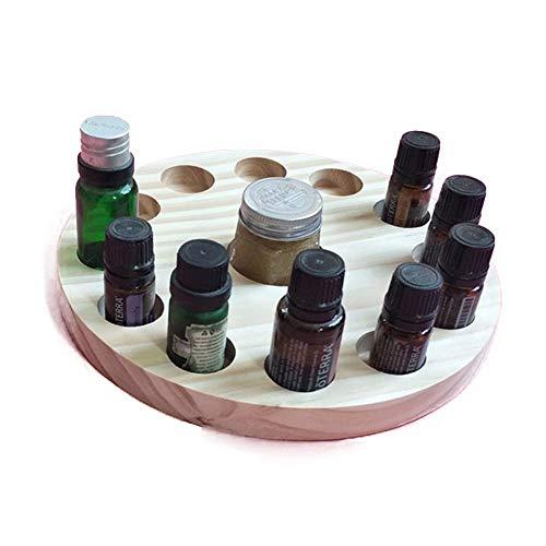 MOMIN-HM Huile Essentielle Boîte 13 Essential Fente en Bois De Stockage D'huile Détienne 12 10ml Bouteille Huiles pour Voyage et présentations boîte-Cadeau (Couleur : Natural, Taille : Free Size)