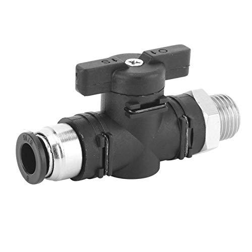 Válvula manual neumática, válvula de aire, interruptor de acoplamiento rápido, junta de tubería de aire con rosca macho BSPP, junta a presión de bloqueo automático de 8 mm(BC8-04)